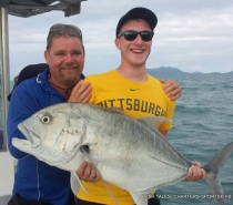 GIANT TREVALLY POPPER FISHING