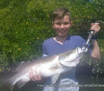 Jet`s 1st Barramundi from Trinity Inlet, Cairns