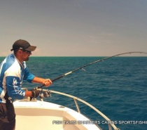 Popper fishing on the reef