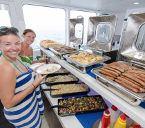 Hot BBQ Buffet Lunch - Fish, Steak, Sausages, Prawns and a selection of tasty salads (vegetarian option available)