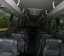 Interior of the 53 Seater Luxury Coach