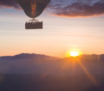 Sunrise During Balloon Flight