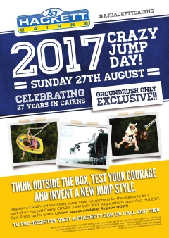 GROUNDRUSH ONLY! Crazy Jump Day - 27th August 2017